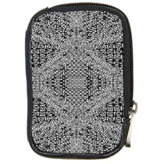 Gray Psychedelic Background Compact Camera Cases