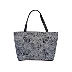 Gray Psychedelic Background Shoulder Handbags