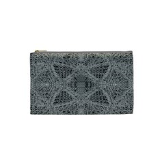 Gray Psychedelic Background Cosmetic Bag (small)