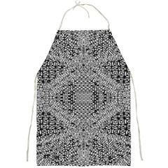 Gray Psychedelic Background Full Print Aprons