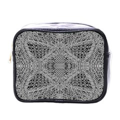 Gray Psychedelic Background Mini Toiletries Bags