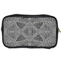 Gray Psychedelic Background Toiletries Bags