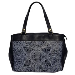 Gray Psychedelic Background Office Handbags
