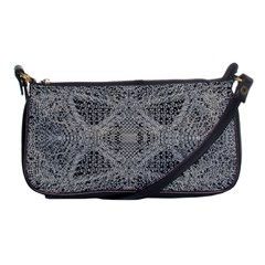 Gray Psychedelic Background Shoulder Clutch Bags