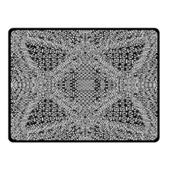 Gray Psychedelic Background Fleece Blanket (small)