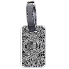 Gray Psychedelic Background Luggage Tags (one Side)
