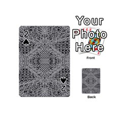 Gray Psychedelic Background Playing Cards 54 (mini)