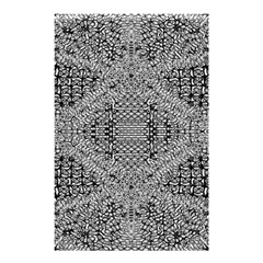 Gray Psychedelic Background Shower Curtain 48  X 72  (small)