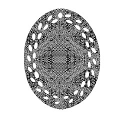 Gray Psychedelic Background Ornament (oval Filigree)