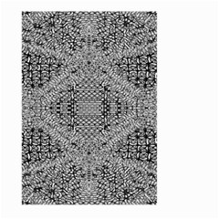 Gray Psychedelic Background Large Garden Flag (two Sides)
