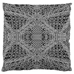 Gray Psychedelic Background Large Cushion Case (one Side)
