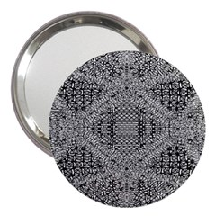 Gray Psychedelic Background 3  Handbag Mirrors