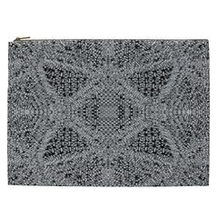 Gray Psychedelic Background Cosmetic Bag (xxl)