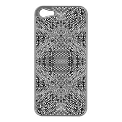 Gray Psychedelic Background Apple Iphone 5 Case (silver)