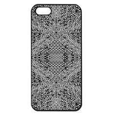 Gray Psychedelic Background Apple Iphone 5 Seamless Case (black)