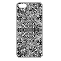 Gray Psychedelic Background Apple Seamless Iphone 5 Case (clear)