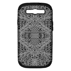 Gray Psychedelic Background Samsung Galaxy S Iii Hardshell Case (pc+silicone)