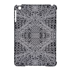 Gray Psychedelic Background Apple Ipad Mini Hardshell Case (compatible With Smart Cover)