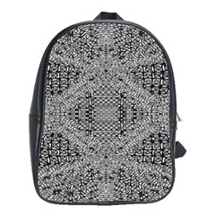 Gray Psychedelic Background School Bags (xl)