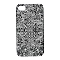 Gray Psychedelic Background Apple Iphone 4/4s Hardshell Case With Stand