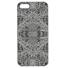 Gray Psychedelic Background Apple Iphone 5 Hardshell Case With Stand
