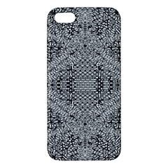 Gray Psychedelic Background Apple Iphone 5 Premium Hardshell Case