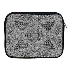 Gray Psychedelic Background Apple Ipad 2/3/4 Zipper Cases