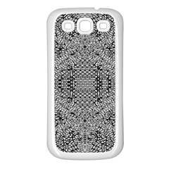 Gray Psychedelic Background Samsung Galaxy S3 Back Case (white)