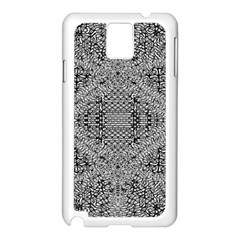 Gray Psychedelic Background Samsung Galaxy Note 3 N9005 Case (white)