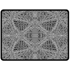Gray Psychedelic Background Double Sided Fleece Blanket (large)