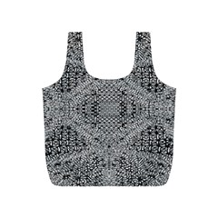 Gray Psychedelic Background Full Print Recycle Bags (s)
