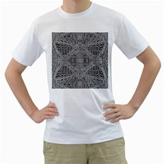 Gray Psychedelic Background Men s T Shirt (white)