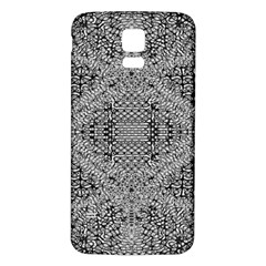 Gray Psychedelic Background Samsung Galaxy S5 Back Case (white)