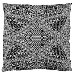 Gray Psychedelic Background Large Flano Cushion Case (two Sides)