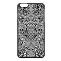 Gray Psychedelic Background Apple Iphone 6 Plus/6s Plus Black Enamel Case