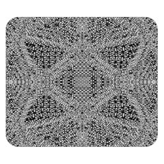 Gray Psychedelic Background Double Sided Flano Blanket (small)