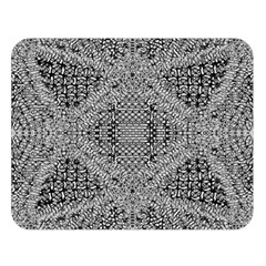 Gray Psychedelic Background Double Sided Flano Blanket (large)