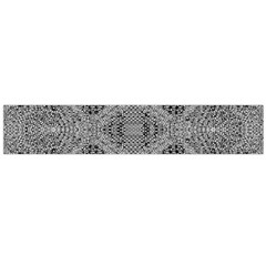 Gray Psychedelic Background Flano Scarf (large)