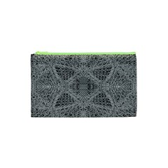 Gray Psychedelic Background Cosmetic Bag (xs)