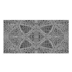 Gray Psychedelic Background Satin Shawl