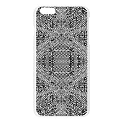 Gray Psychedelic Background Apple Seamless iPhone 6 Plus/6S Plus Case (Transparent)