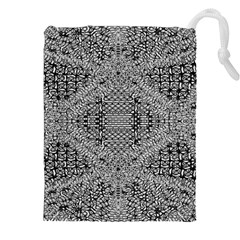 Gray Psychedelic Background Drawstring Pouches (xxl)