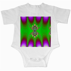 Green And Purple Fractal Infant Creepers