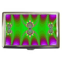 Green And Purple Fractal Cigarette Money Cases