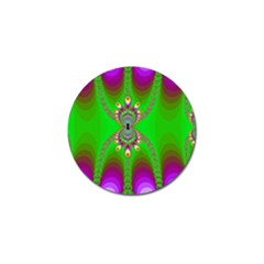 Green And Purple Fractal Golf Ball Marker (4 Pack)