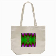 Green And Purple Fractal Tote Bag (cream)