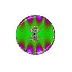 Green And Purple Fractal Hat Clip Ball Marker (4 Pack)