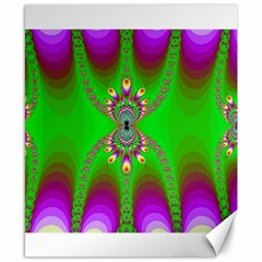 Green And Purple Fractal Canvas 8  X 10