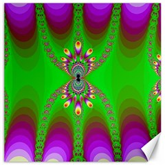 Green And Purple Fractal Canvas 20  X 20