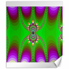 Green And Purple Fractal Canvas 20  X 24